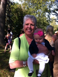 John's sister Sheila with baby B
