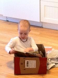 In a box...